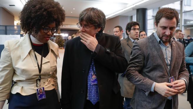 Puigdemont y Comín, en el Europarlamento
