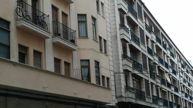Fachada de una vivienda.