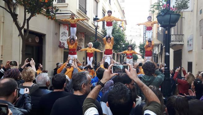Muixeranga en el 87 aniversario de les Normes de Castelló
