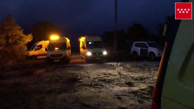 Una joven murió en un accidente de caza en Valdemanco.