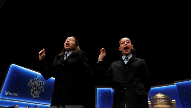Las niñas que han cantado el Gordo de la Lotería de Navidad 2020