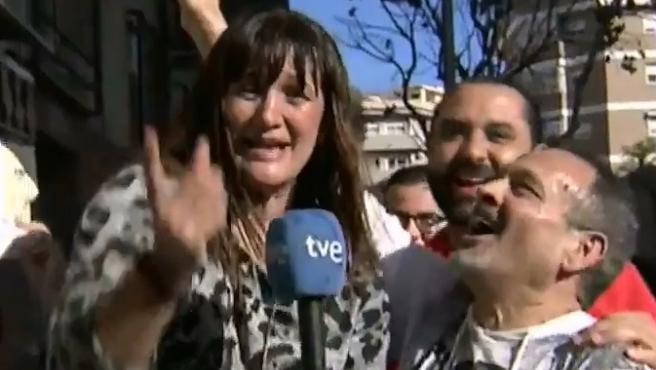 Natalia Escudero, reportera de TVE premiada con el Gordo.