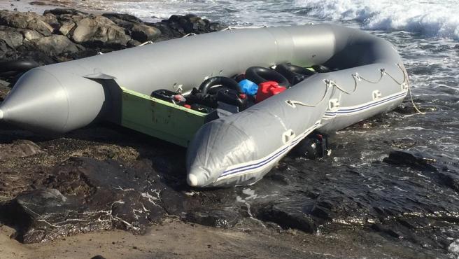 Embarcación irregular llegada este jueves a Fuerteventura