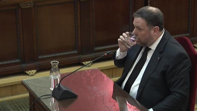 Interrogatorio a Oriol Junqueras en el juicio por el procés
