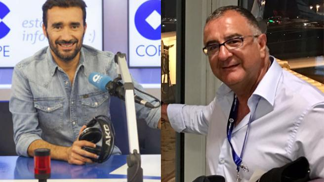 Juanma Castaño y Roberto Gómez, periodistas