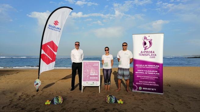 La Playa de Las Canteras (Gran Canaria) acoge tres torneos puntuables para el circuito ITF Beachtennis World Tour