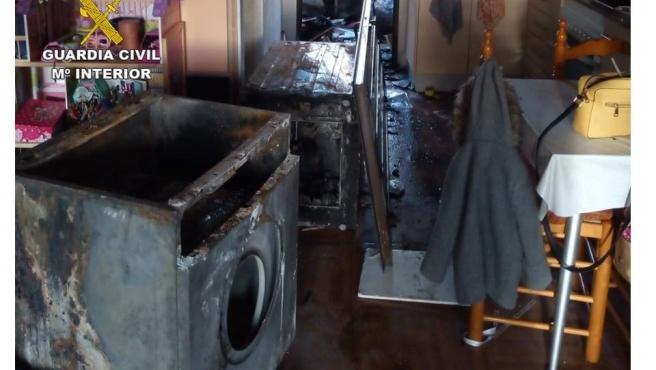 Situació en la qual va quedar la cuina després de l'incendi.