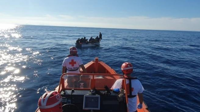 Una de les pasteres rescatades per Creu Roja a Alacant, imagende arxiu.