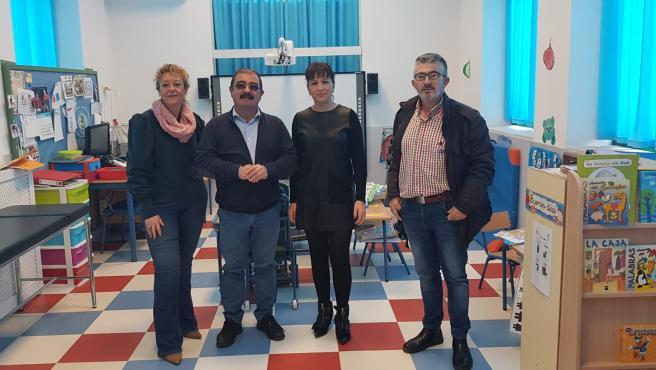 Visita a Lopera del diputado de Infraestructuras Municipales, José Castro