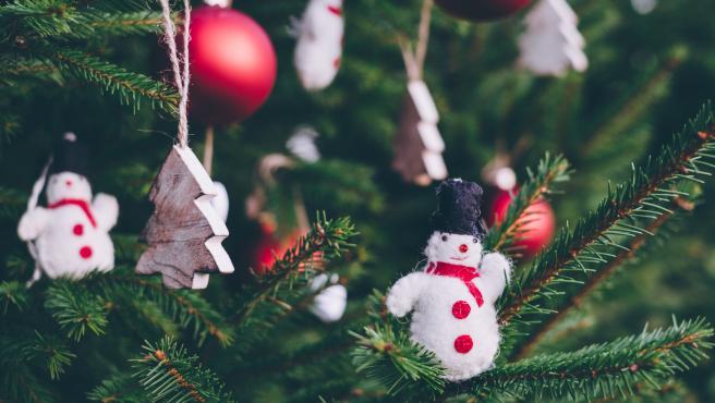Detalle de un árbol de Navidad.