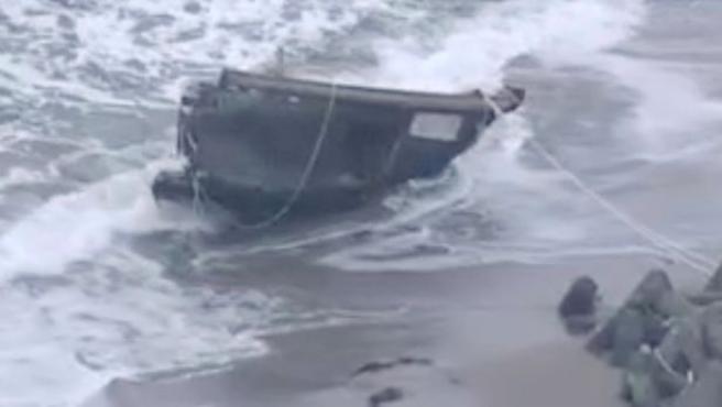 Restos de un barco norcoreano llegado a Japón.