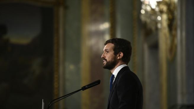 Casado anuncia que el PP recurrirá al Constitucional la congelación de las pensi