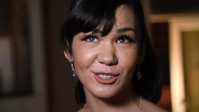 Kelly Fraser, en el videoclip del tema 'Rebound Girl'.