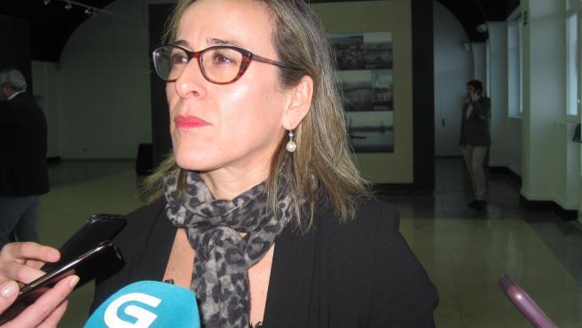 La conselleira de Infraestruturas de Mobilidade, Ethel Vázquez, este martes en Vigo
