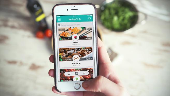La app ofrece establecimientos en los que comprar la comida sobrante más barata.