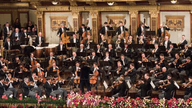 Una imagen de la Filarmónica de Viena, durante el tradicional concierto de Año Nuevo.