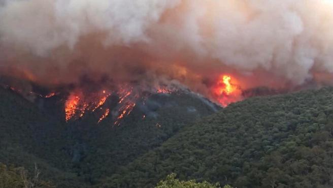 Incendios forestales en East Gippsland, en el estado australiano de Victoria.