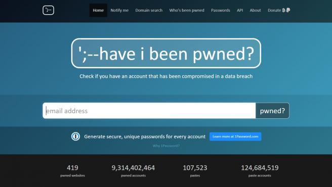 'Have I Been Pwned?' es una página web que te permite saber si tus datos se han visto comprometidos en una brecha de ciberseguridad simplemente ingresando tu correo electrónico.