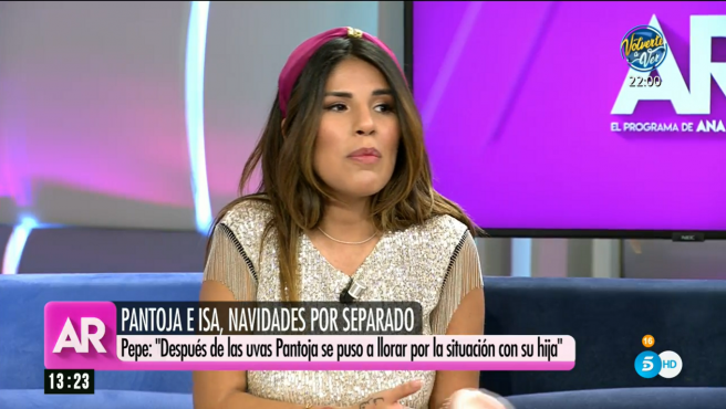 Chabelita como colaboradora de 'El programa de Ana Rosa'.