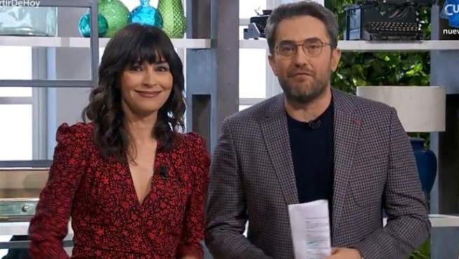 Marta Férnandez y Máxim Huerta en el programa A partir de hoy
