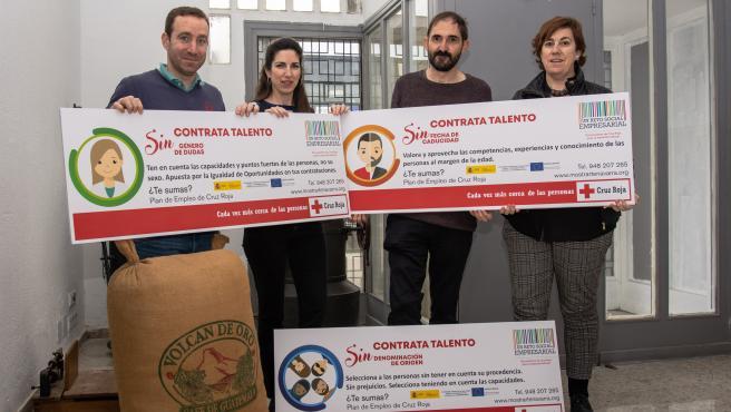 Campaña 'Elige Talento Sin...', Promovida Por El Plan De Empleo De Cruz Roja Y Cafés Plaza Del Castillo