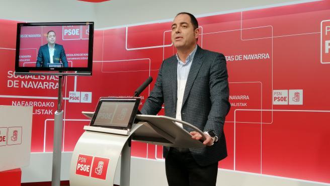 El secretario de Organización del PSN y portavoz parlamentario, Ramón Alzórriz