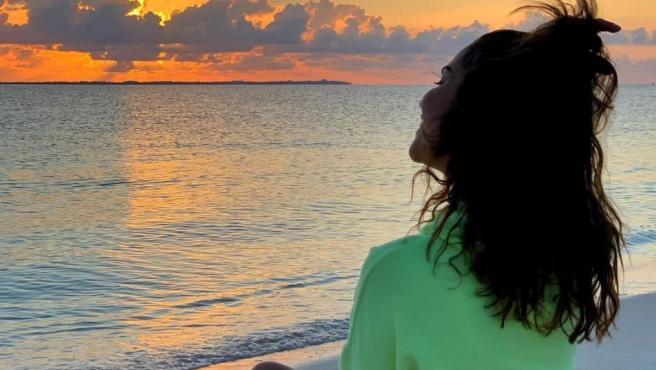 Imagen compartida por Lara Álvarez de sus vacaciones en el Caribe mexicano.
