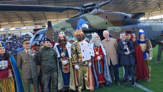 Los Reyes Magos aterrizan en Logroño