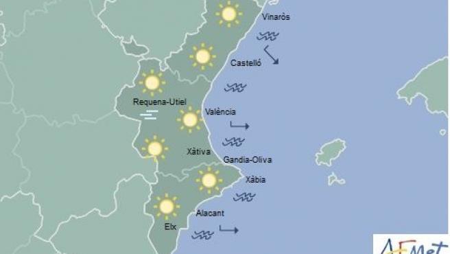 Predicción del domingo 5 de enero en la Comunitat Valenciana