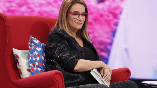 La presentadora Toñi Moreno, en el programa 'Aquellos Maravillosos Años'.