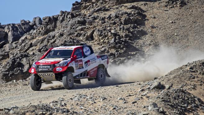Fernando Alonso, en el rally Dakar.