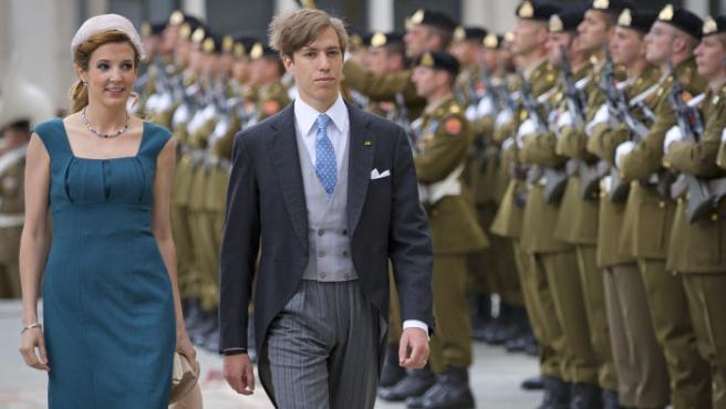 El príncipe Luis y Tessy, durante la celebración del Día Nacional de Luxemburgo.