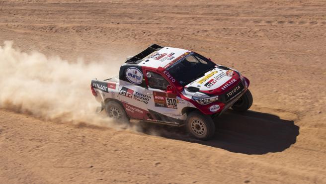 Fernando Alonso, durante el Dakar 2020
