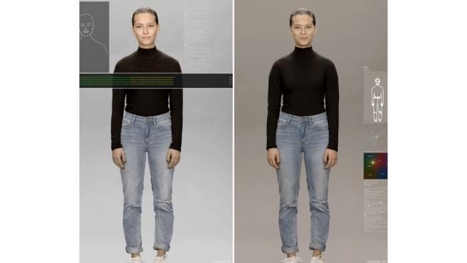 Maya, la demo que ha presentado Samsung en CES 2020 de sus 'Neon'.
