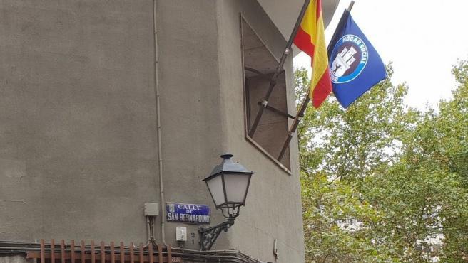 Imagen del edificio okupado por el colectivo neonazi Hogar Social Madrid.