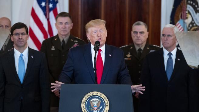 El presidente del EE UU, Donald Trump, responde a los ataques de Irán.