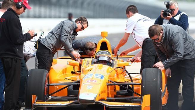 Fernando Alonso, en Indianápolis, en 2017.