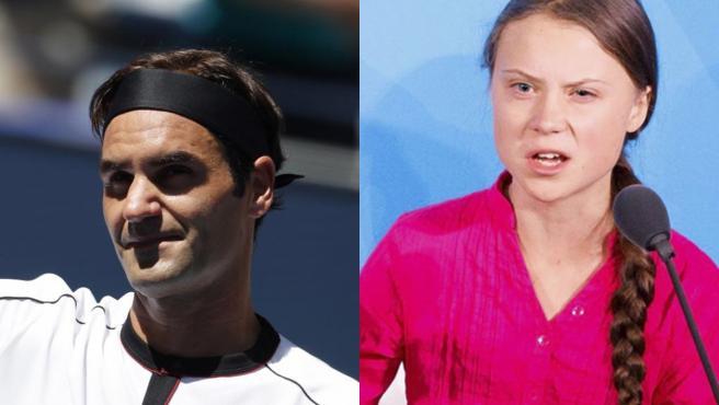 Roger Federer y Greta Thunberg