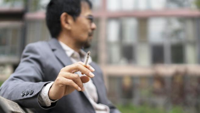 Home fumant, fumar, tabac