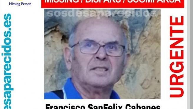 Busan a un anciano con alzhéimer desaparecido en Xàtiva desde Nochebuena