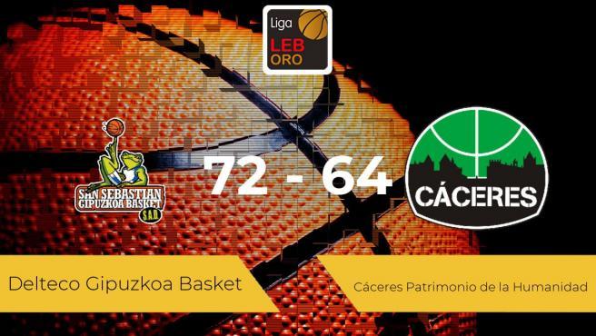 El Delteco Gipuzkoa Basket vence al Cáceres Patrimonio de la Humanidad por 72-64