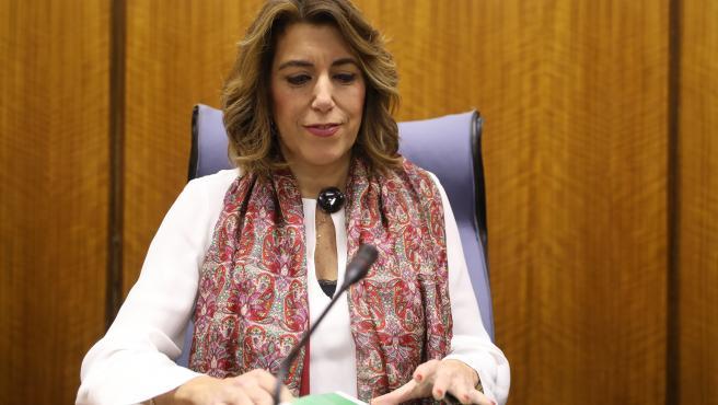 [XI Legislatura] Sesión de Investidura de Dña. Susana Díaz Pacheco La-secretaria-general-del-psoe-a-y-presidenta-del-grupo-parlamentario-susana-diaz