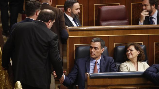 Oriol Junqueras y Pedro Sánchez (archivo)