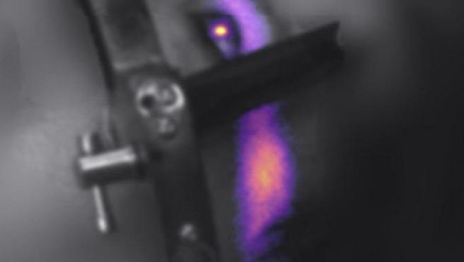 Radiación de Cherenkov obtenida durante el tratamiento de un paciente, captada por los científicos del Centro de Cáncer Dartmouth-Hitchcock Norris Cotton.