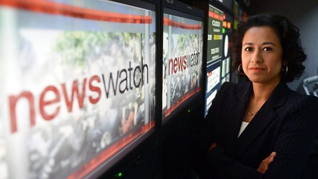 La periodista de la BBC Samira Ahmed.