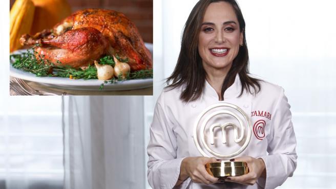 Tamara Falcó, con su trofeo de ganadora de 'MasterChef Celebrity'.
