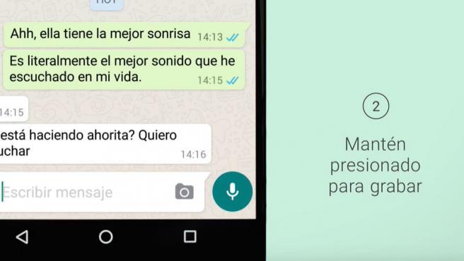 Así puedes grabar un audio en Whatsapp sin pulsar con el dedo en iOS y Android