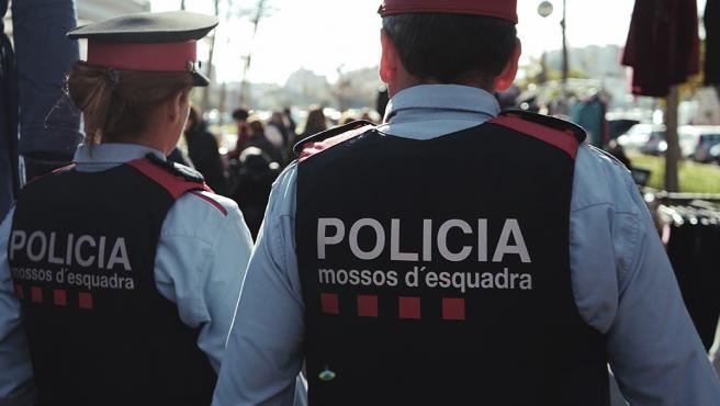 Dos Mossos d'Esquadra. Foto de archivo