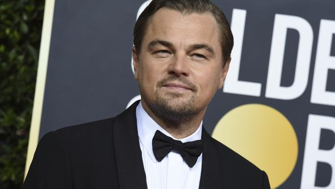 Leonardo DiCaprio, en la alfombra roja de los Globos de Oro 2020.