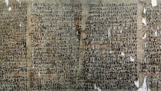 Imagen del papiro de Westcar, que contiene el segundo chiste más antiguo de la historia.